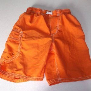Orange Swim Trunks Boy Size 6X